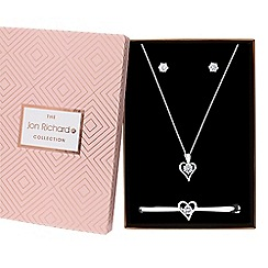 Jon Richard - Cubic zirconia heart jewellery set in a gift box