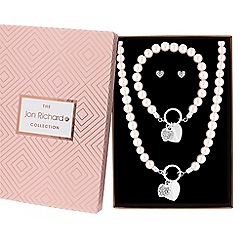 Jon Richard - Pearl heart jewellery set in a gift box