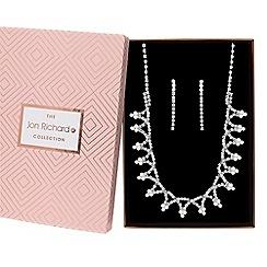 Jon Richard - Diamante twist jewellery set in a gift box