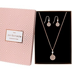 Jon Richard - Pave disc jewellery set in a gift box