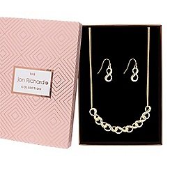 Jon Richard - Pave infinity link jewellery set in a gift box