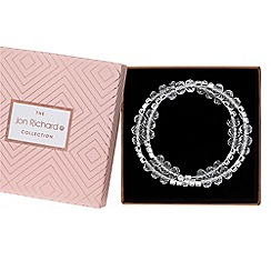 Jon Richard - Crystal beaded coil bracelet in a gift box