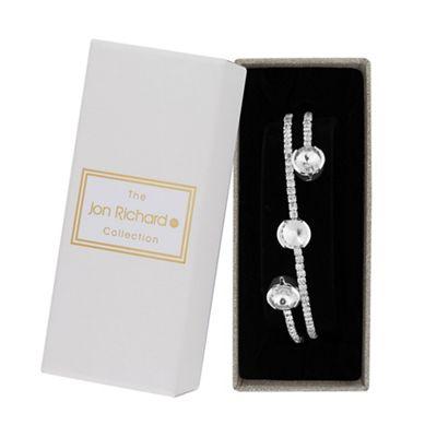 jon richard silver crystal diamante twist bangle
