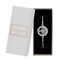 Jon Richard - Silver crystal tree of life toggle bracelet