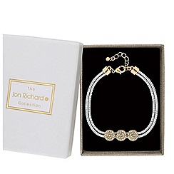 Jon Richard - Pave disc snake chain bracelet