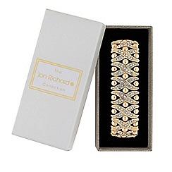 Jon Richard - Gold Plated Crystal Embellished Kisses Stretch Bracelet