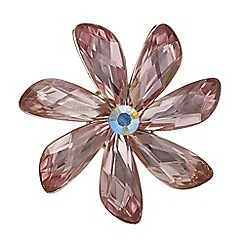 The Collection - Pink crystal flower brooch