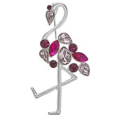 The Collection - Crystal flamingo brooch