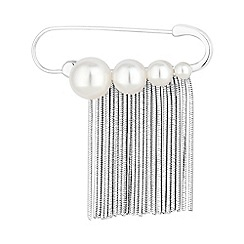 The Collection - Pearl fringed pin brooch