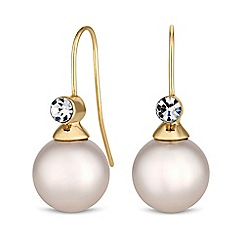 The Collection - Cream pearl drop earrings