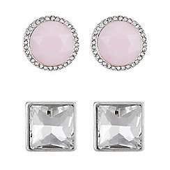 The Collection - Pink crystal earrings set