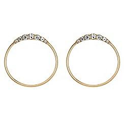 The Collection - Crystal hoop drop earrings