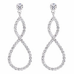 The Collection - Diamante twist drop earrings