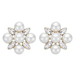 The Collection - Pearl flower stud earrings