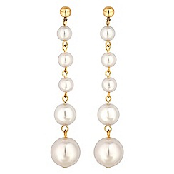The Collection - Graduated pearl drop earrings