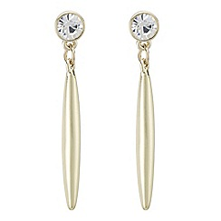 The Collection - Crystal stick drop earrings