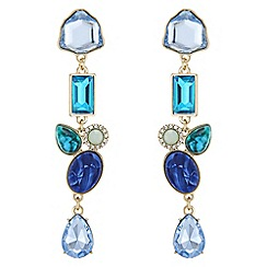 The Collection - Tonal crystal drop earrings