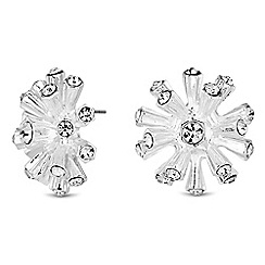 The Collection - Crystal flower earrings