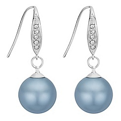 The Collection - Pearl and crystal drop earrings