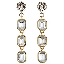 The Collection - Linear crystal drop earrings