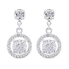 The Collection - Crystal halo drop earrings