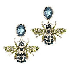 The Collection - Crystal bee drop earrings