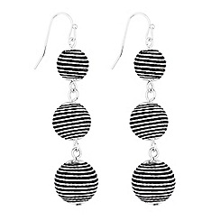 The Collection - Graduated sphere drop earrings