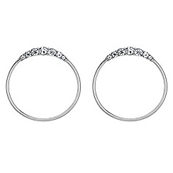 The Collection - Crystal hoop drop earrings