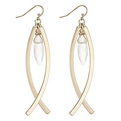 The Collection - Crystal droplet crossover earrings