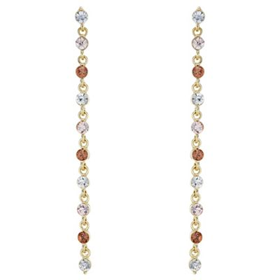 The Collection   Crystal Linear Drop Earrings by The Collection