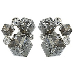 The Collection - Metallic cube cluster stud earrings