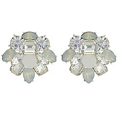 The Collection - Layered druzy crystal stud earrings