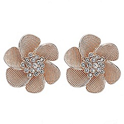 The Collection - Crystal flower stud earrings