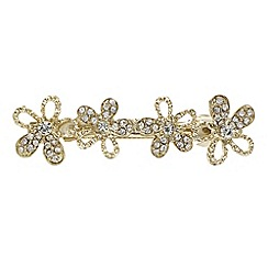 The Collection - Floral crystal hair clip