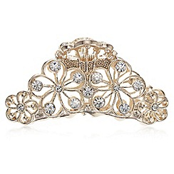 The Collection - Crystal floral hair clamp