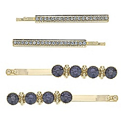 The Collection - Crystal hair slide set