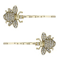 The Collection - Crystal bee hair slide set