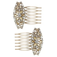 The Collection - Crystal hair comb set