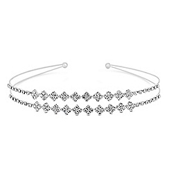 The Collection - Silver crystal double row headband