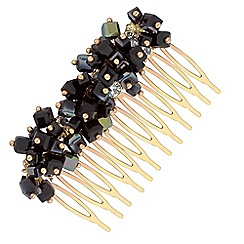 The Collection - Gold cube beaded hair comb