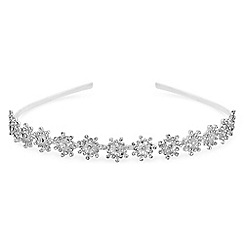 The Collection - Silver crystal burst headband