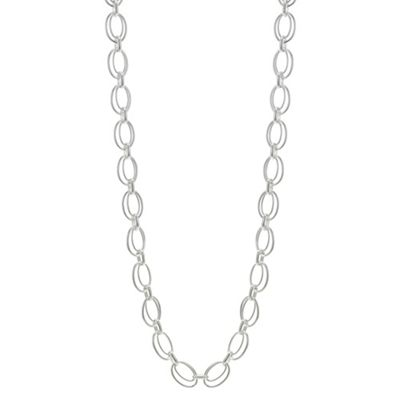 The Collection Silver Double Link Long Chain Necklace