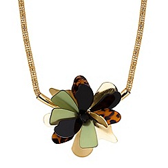 The Collection - Floral torque necklace