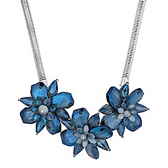The Collection - Blue flower statement necklace