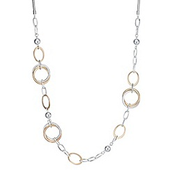 The Collection - Multi tone ring link necklace