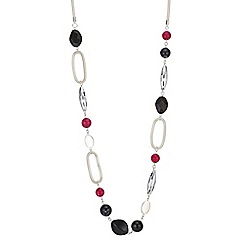 The Collection - Pink multi bead long necklace
