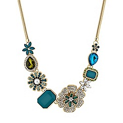 The Collection - Floral crystal cluster necklace