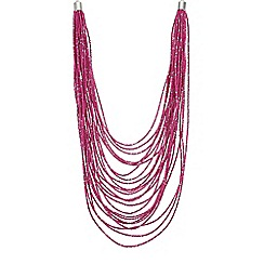 The Collection - Beaded multi row necklace