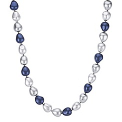 The Collection - Blue tonal pearl necklace