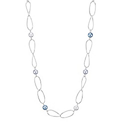 The Collection - Blue tonal pearl link necklace